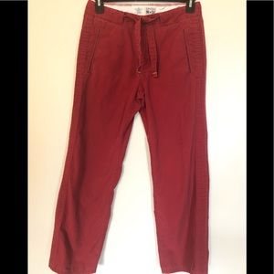 4/$25 CONVERSE ONE STAR PANTS RED POCKETS